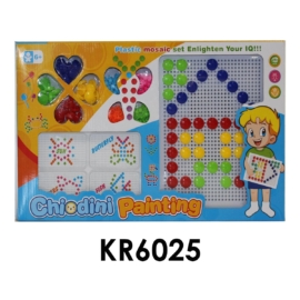 Pötyi mozaik, 2 méretű pöttyel, táblával, 44x27 cm dobozban