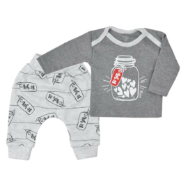 KOALA Szabadidő nadrág és póló Koala To You szürke Szürke 74 (6-9 h)