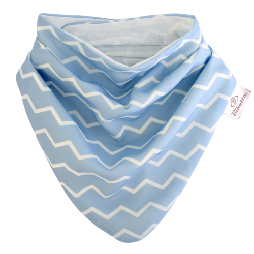 Bibetta nyálkendő dupla nedvszívó réteggel - kék csíkos