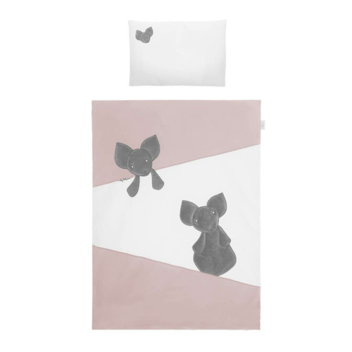 BELISIMA 5-részes ágyneműhuzat Belisima Mouse 100-135 rózsaszín