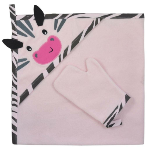 KOALA Kifogó fürdőkesztyűvel Koala Happy Zebra pink