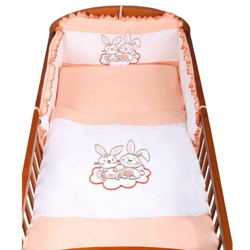 NEW BABY 3-részes ágyneműhuzat New Baby Bunnies 100x135 narancssárga