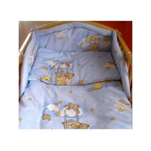 NEW BABY Kétrészes ágyneműgarnitúra New Baby 100-135 cm kék macis