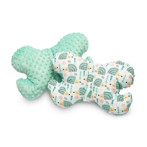 SENSILLO Pillangó alakú párna Minky Sensillo menta süni