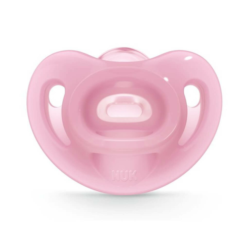 NUK Baba szilikon cumi Sensitive NUK 6-18h rózsaszín
