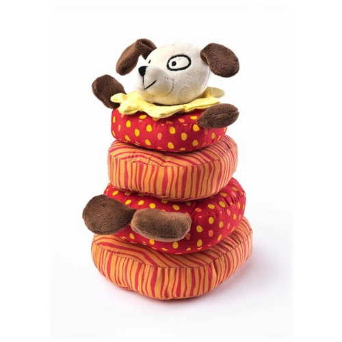 SENSILLO Fejlesztő plüss játék Sensillo kutyus piramis