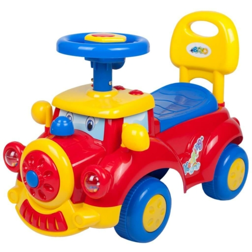 BAYO Gyermek jármű sípolóval Bayo Train red