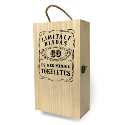 Fa bortartó doboz - 2 üvegnek 60. Születésnapra