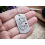 Kép 7/7 - RM alkotóműhely- Legjobb Anya acél szögletes medálos kulcstartó