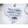 Kép 5/5 - RM alkotóműhely- A szív azt is érzi acél medálos kulcstartó