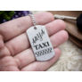 Kép 4/7 - RM alkotóműhely- Anya taxi bérlet acél medálos kulcstartó