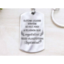 Kép 2/7 - RM alkotóműhely Téged választottunk Anyukánknak acél medálos kulcstartó