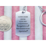 Kép 6/7 - RM alkotóműhely- Téged választottunk Anyukánknak acél medálos kulcstartó
