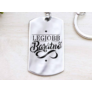 Kép 1/7 - RM alkotóműhely Legjobb barátnő acél medálos kulcstartó