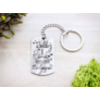Kép 3/7 - RM alkotóműhely- Boldog szülinapot acél medálos kulcstartó