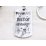 Kép 2/7 - RM alkotóműhely Boldog névnapot acél medálos kulcstartó