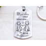 Kép 1/7 - RM alkotóműhely Macska nélkül lehet élni acél medálos kulcstartó