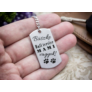 Kép 7/7 - RM alkotóműhely- Büszke bull terrier mami vagyok acél medálos kulcstartó