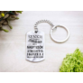 Kép 4/5 - RM alkotóműhely- Senki sem tökéletes de a nagytesók acél medálos kulcstartó