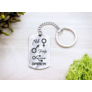 Kép 4/5 - RM alkotóműhely- Nő Férfi Gamer acél medálos kulcstartó