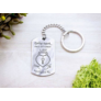 Kép 4/5 - RM alkotóműhely- Csak te nyithatod acél medálos kulcstartó