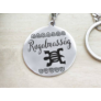 Kép 1/5 - RM alkotóműhely Rugalmasság afrikai szimbólum acél medálos kulcstartó