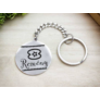 Kép 4/5 - RM alkotóműhely- Remény afrikai szimbólum acél medálos kulcstartó