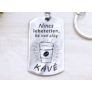 Kép 1/5 - RM alkotóműhely Nincs lehetetlen acél medálos kulcstartó