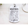 Kép 1/5 - RM alkotóműhely Kecses mint a szarvas acél medálos kulcstartó