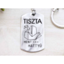 Kép 1/5 - RM alkotóműhely Tiszta mint a hattyú acél medálos kulcstartó