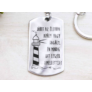 Kép 1/7 - RM alkotóműhely Jöhet apály vagy dagály acél medálos kulcstartó