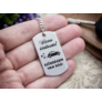 Kép 2/7 - RM alkotóműhely Vezess óvatosan autót acél medálos kulcstartó