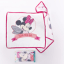 Kép 1/2 - Minnie egér baba kapucnis törölköző - pamut babatörölköző – fehér-pink