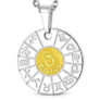 Kép 3/4 - kör alakú bika horoszkóp nemesacél medál