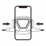 Kép 4/4 - Autós tartó - Autós tartó szellözőrácsba autómata zárás WP-U82 WK Desing _ Fekete